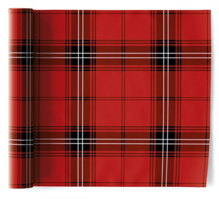 Салфетки 32 х 32 см, Cotton Tartan Christmas My Drap 6 шт в рулоне