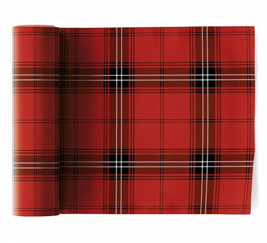 Салфетки 20 х 20 см, Cotton Tartan Christmas My Drap 12 шт в рулоне